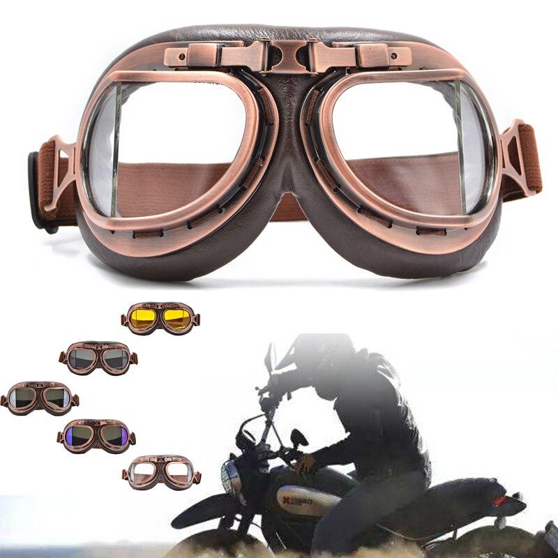 Retro Vintage Motorcycle Goggles or Headscarf Eyewear Motocross Helmets Skiing