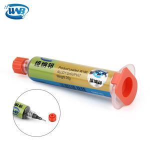 Image 2 - WNB 10cc Spritze Flux Set Sn63/Pb37 Leaded Schweiß 183 ℃ Schmelzen Löten Zinn Paste Mit Lotpaste Schaber für SMD PCB Reparatur