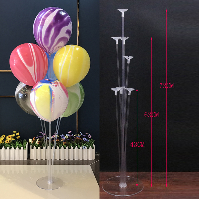 <font><b>7</b></font> <font><b>Tubes</b></font> <font><b>Balloons</b></font> <font><b>Stand</b></font> <font><b>Balloon</b></font> <font><b>Holder</b></font> Column Confetti <font><b>Balloon</b></font> Baby Shower Birthday Party Wedding Christmas Decoration Supplies image