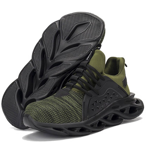 Image 5 - Mens Outdoor Breathable Mesh Steel Toe Safety Shoes Light Puncture Proof Comfortable Work Shoes Reflective Safety Boot