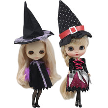 Kıyafetler için Blyth doll cadı sihirli suit cadılar bayramı takım elbise 1/6 BJD için azon buzlu DBS