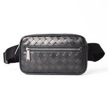 Waist Pack Fanny Pack Belt Bags Chest Bag Men Funny Packs Cross Body Luxury Brand Bag Designer Men`s Genuine Leather Calf  2020