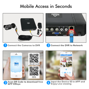 Image 5 - Hiseeu CCTV camera System 4CH 720P/1080P AHD security Camera DVR Kit CCTV waterproof Outdoor home Video Surveillance System HDD