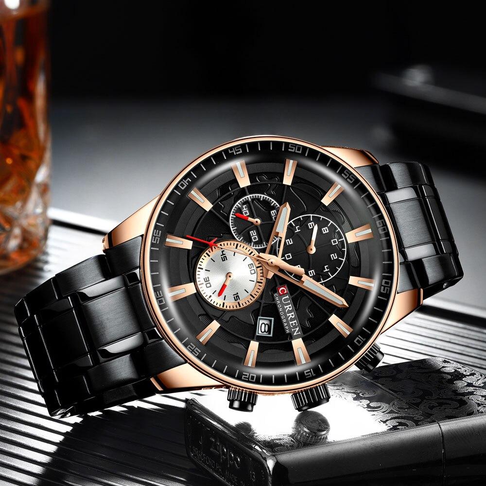 H3c156ebc8c99447d9571a0699adb3c10X Men's Watches CURREN Top Luxury Brand Fashion Quartz Men Watch Waterproof Chronograph Business Wristwatch Relogio Masculino