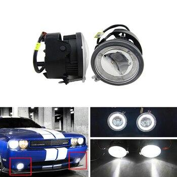 Direct Fit For Chrysler Pacifica Sebring Sedan Convertible For Dodge Caliber Auto Led Fog Light W/ DRL Guide Halo Ring