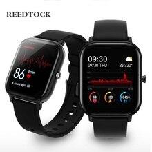 Oryginalny inteligentny zegarek 1.4 Cal mężczyźni w pełni dotykowy zegar opaska monitorująca aktywność fizyczną ciśnienie krwi kobiety GTS Smartwatch P8