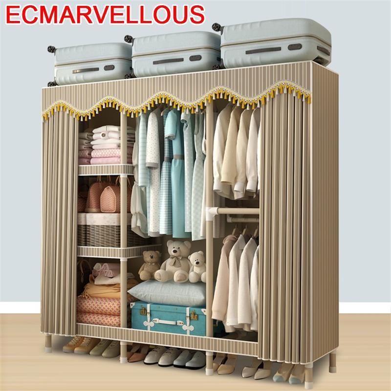 Tela Home Furniture Ropero Chambre Armoire Rangement Ropa Gabinete Armario Guarda Roupa Mueble De Dormitorio Cabinet Wardrobe