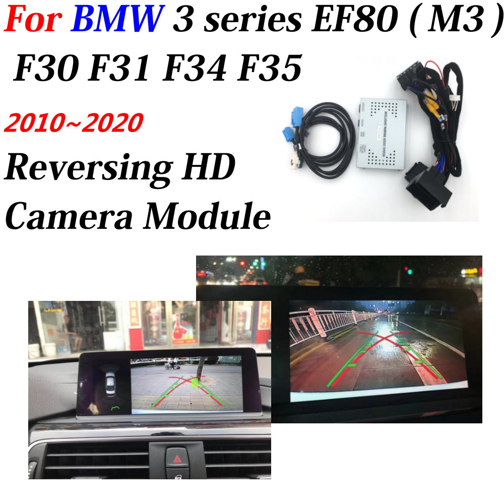 Car Rear View Backup Reverse Camera For BMW 3 Series M3 F80 F30 F31 F34 F35 2010-2020 Full HD Decoder OEM Interface Accesories