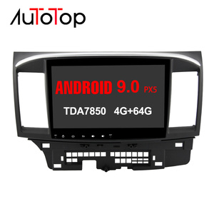 2 Din Android 9.0 Car Multimedia Player For Mitsubishi Lancer EX EVO Lancer 10 2008-2016 9 x 10.1 inch car dvd gps navi radio(China)