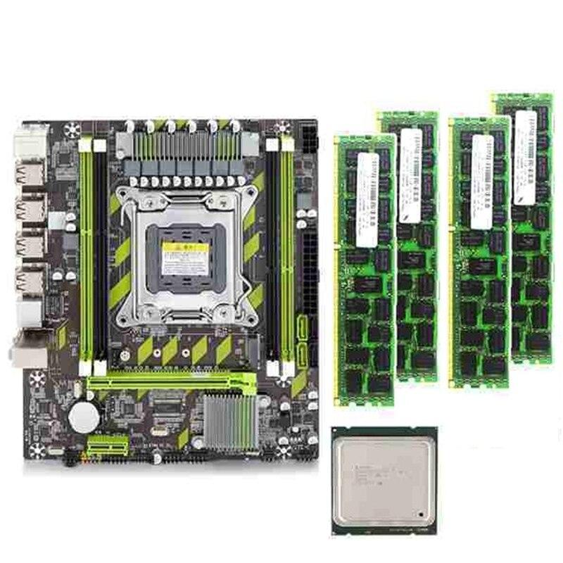 X79G Motherboard LGA2011 Mini-ATX Combos E5-2620 V2 E5 2620 V2 CPU 4Pcs X 4GB = 16GB DDR3 RAM 1600Mhz PC3 12800R