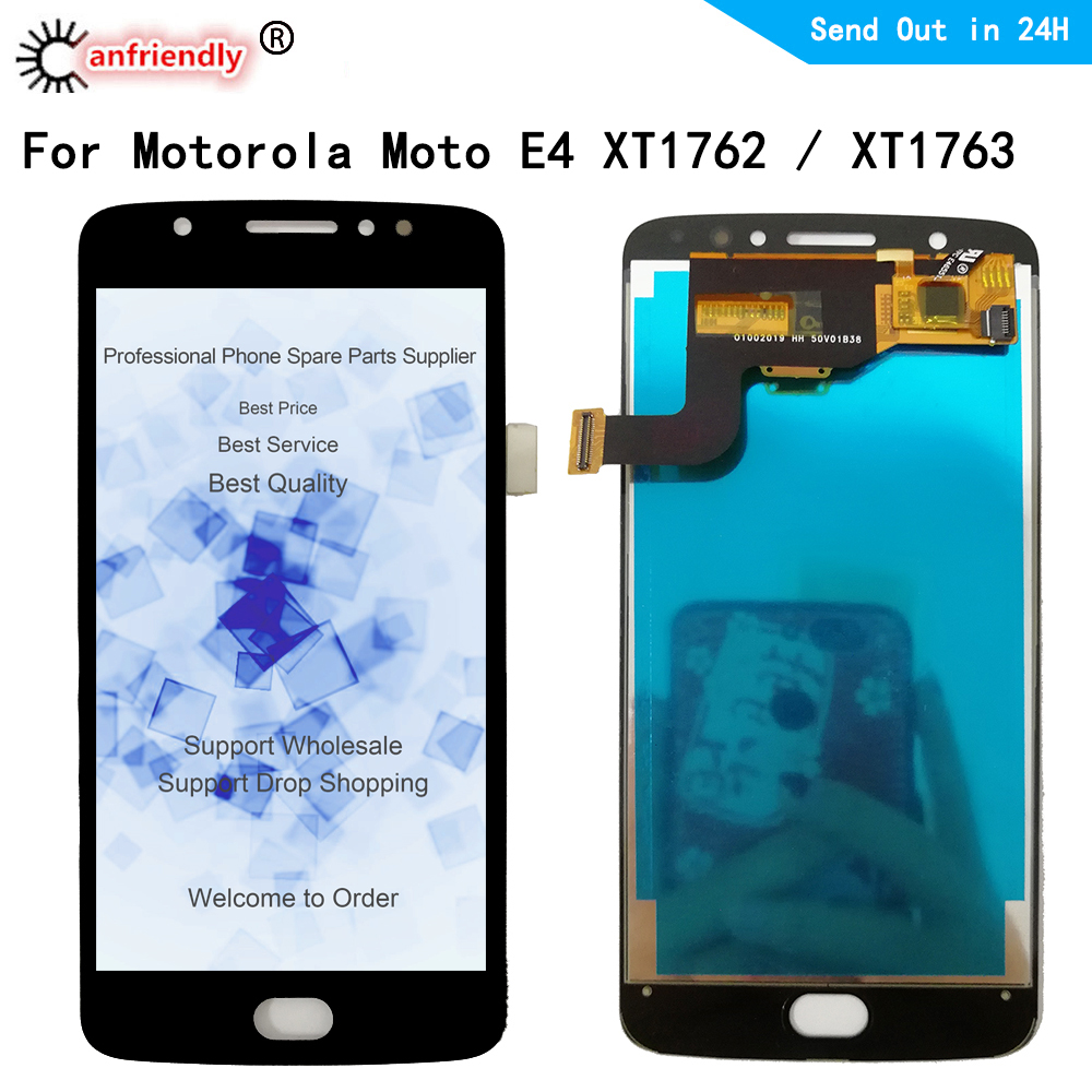 For Motorola <font><b>Moto</b></font> <font><b>E4</b></font> XT1762 LCD <font><b>Display</b></font> Touch Screen Digitizer with frame Assembly Replacement For <font><b>MOTO</b></font> <font><b>E4</b></font> XT1762 <font><b>XT1763</b></font> <font><b>Display</b></font> image