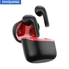 SHIQIANG JM12 TWS Bluetooth Headphones Stereo True Wireless Headset Earbuds In-ear Sport Waterproof Headphone for Mobile Phone