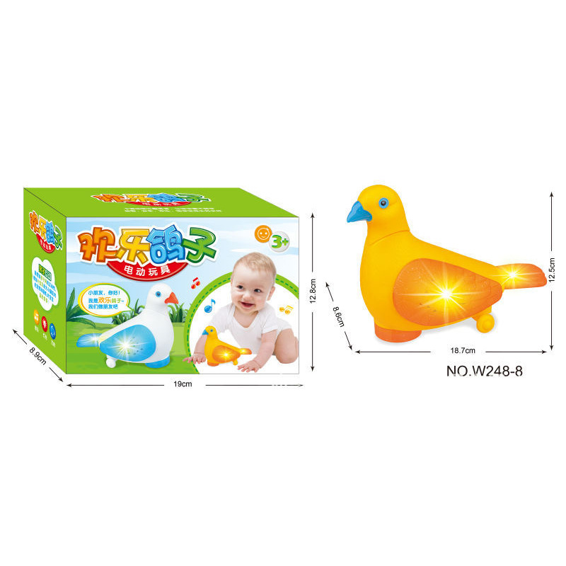 New Products Hot Sales Czw248-10 Infants Electric Light Music Universal Parrot Early Childhood Educational Toy