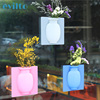 evilto Silicone Sticky Vase Magic Rubber Flower Plant Vases Flower Container For Office Wall Vases Decoration Home 1