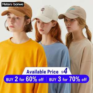 Basic Hoodies Tops Casual Sweatshirt Metersbonwe Autumn Female Women Streetwear Solid-Colour