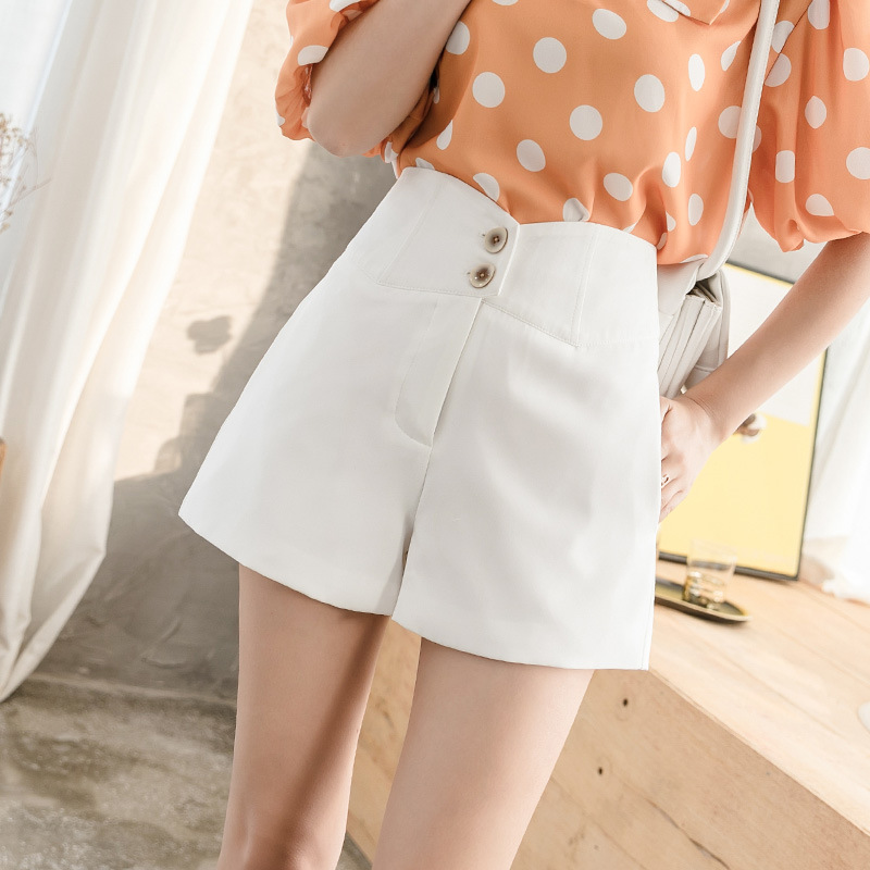 Summer Chiffon Wide Leg Shorts Women 2020 New High Loose Thin Summer Shorts Femme White Ladies Shorts Falda Short Mujer