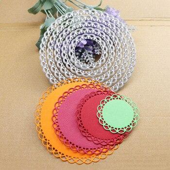 12cm Lace Round Die Circle Metal Cutting Dies Scrapbooking Cut for DIY Photo Album Card Craft Paper Embossing Supplies
