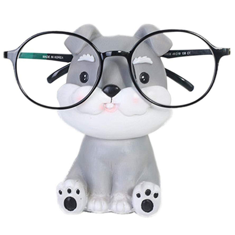 Puppy Dog Glasses Holder Stand Eyeglass Retainers Sunglasses Display Cute Animal Design Gift (Schnauzer)