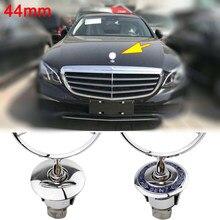 1 шт. 44 мм 3D цинковый брелок для автомобильных ключей, передний капот эмблема капот Эмблемы для нашивки на одежду для Mercedes Benz W210 W220 W212 C180 C200 ав...