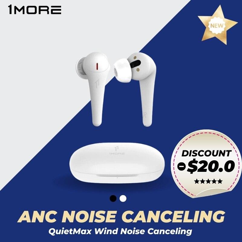 1MORE Comfobuds Pro ANC наушники беспроводной для снижения шума гарнитура Bluetooth 5,0 TWS с носа шумоподавления QuietMax беспроводные наушники 13,4 мм драйвер ба...