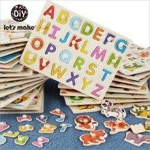Vamos Fazer As Crianças Tridimensional Puzzle Educação infantil Puzzle De Madeira Placa 0-6 Anos Compreensão Intelectual Bordo Para Crianças