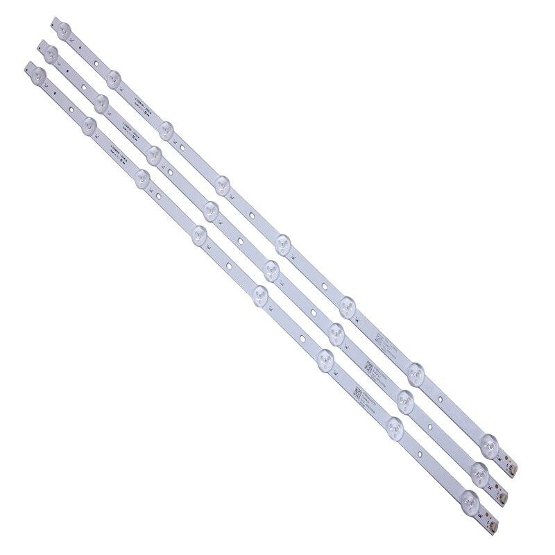 3pcs 605mm LED Backlight Strip 8 Lamps For Tv JL.D32081235-001CS-M E469119 21v Input