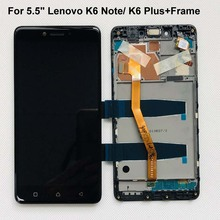 Original test 5.5 New For Lenovo Vibe K6 Plus K53b36 K53b37 K6 Note Full LCD DIsplay +Touch Screen Digitizer Assembly+Frame