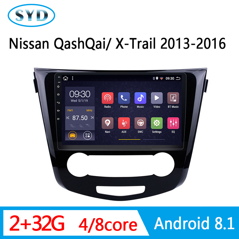 car central Multimedia For <font><b>Nissan</b></font> X-Trail X Trail 3 T32 <font><b>Qashqai</b></font> <font><b>1</b></font> J10 2013-2017 AUTO Radio head unit video stereo system <font><b>Android</b></font> image