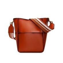 Женская сумка на одно плечо из воловьей кожи