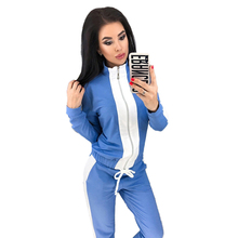 Jogging Femme Womens New Autumn Sports and Leisure Set 2 Sets Long Sleeve Women Clothes Two Piece Outfits Club