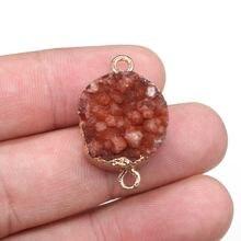Подвеска из натурального камня круглой формы искусственный кристалл