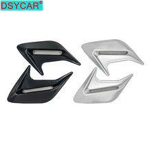 цена на DSYCAR 2Pcs/Set Car styling Shark-fin simulation outlet side air outlet decoration stickers ABS car body stickers modification