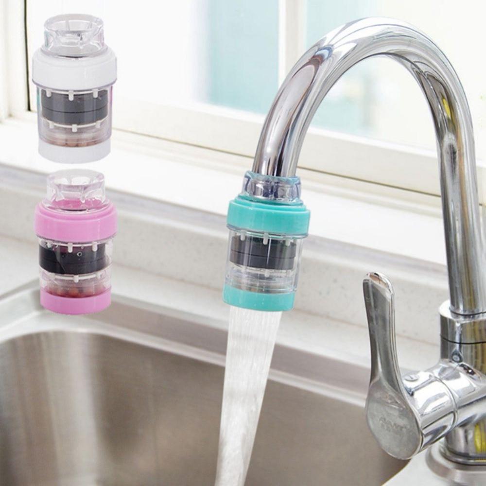 Домашний Поворотный очиститель воды головы экономии воды кран крепление фильтры кран с форсункой адаптер с активированным углем