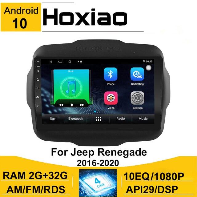 אנדרואיד 10 8.1 2 דין רכב רדיו עבור Jeep Renegade 2016 2017 2018 2019 2020 AHD מצלמת 9 GPS ניווט AM רכב מולטימדיה נגן