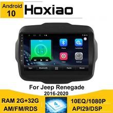 Андроид 10 8,1 2 Din Автомобильная магнитола для Jeep Renegade 2016 2017 2018 2019 2020 AHD видеокамера 9 ''GPS навигации AM Автомобильный мультимедийный проигрывател...