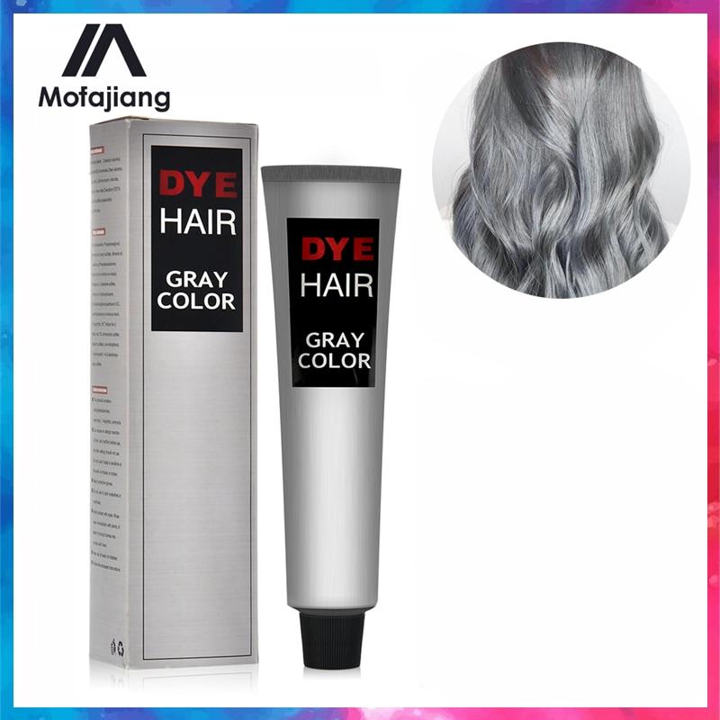 100ML Fashion Light Gray Color Hair Dye Cream Natural Permanent Grey Hair Color Dye Super  Natural Plant Hair Dye Cosmetic