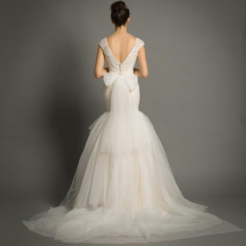 Spaghetti sangle blanc sirène robes De mariée Corset 2020 Vestido De Novia Sexy Spaghetti sangle sirène robes De mariée pour la mariée - 3
