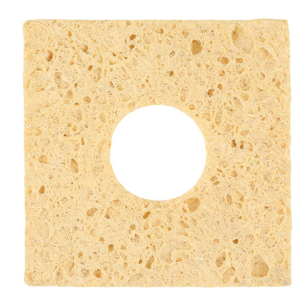 Esponja de limpieza amarilla de 1 pieza para soldar con punta de hierro para 936, diseño exquisito, duradero