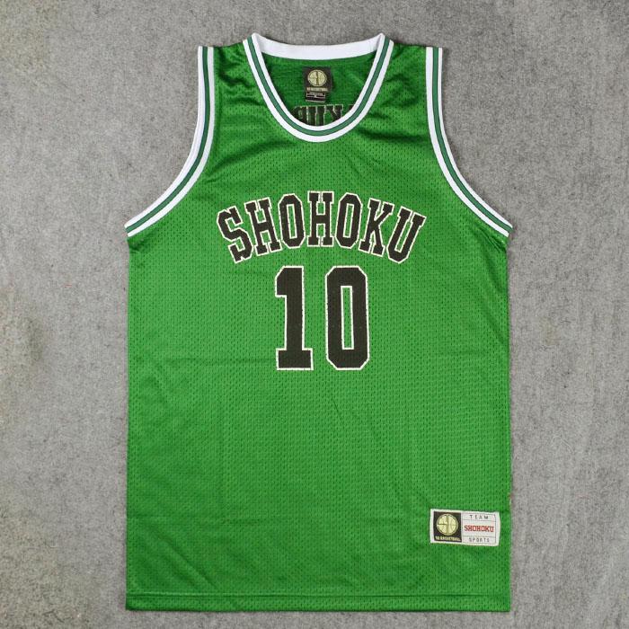 CURVEASSIST Maillots De Basket Shohoku # 10 Sakuragi Coffret Cadeau Emballage Top Qualit/é Hommes Femmes Respirant D/ét/é Court S/échage Rapide Sportswear Rouge