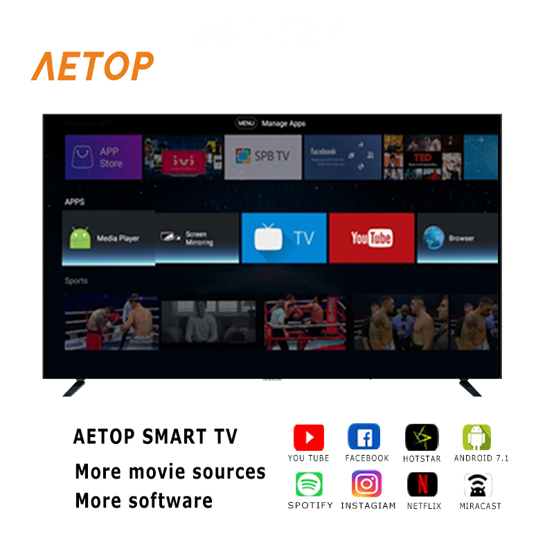 Free shipping-China qled android tv  50 inch 4k UHD television flat screen led smart tv