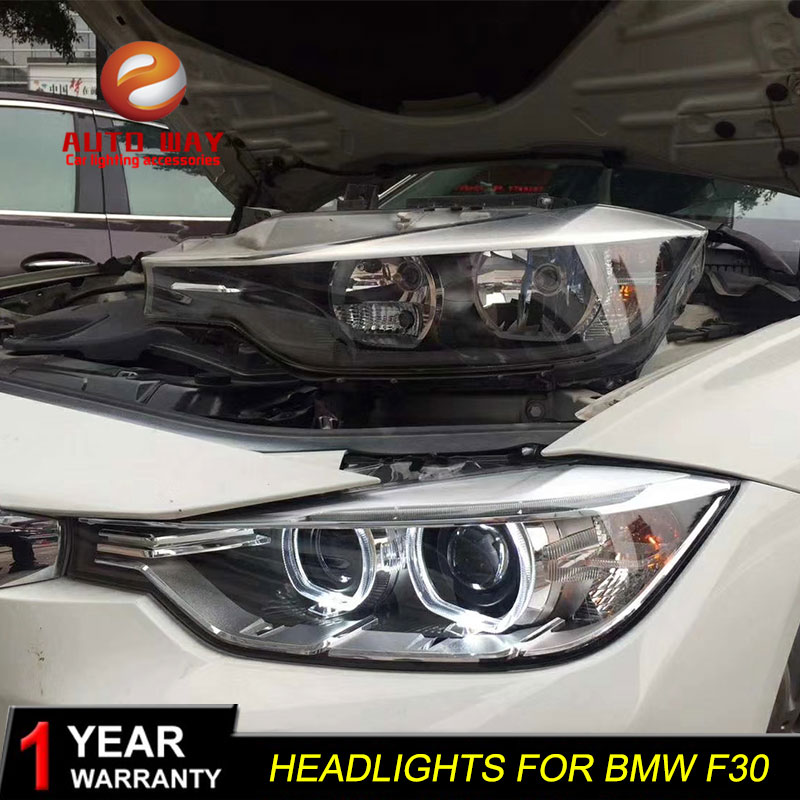 Car Styling Head Lamp case for <font><b>BMW</b></font> F35 <font><b>F30</b></font> 318i 318Li 320i 2012-2015 <font><b>Headlights</b></font> <font><b>LED</b></font> <font><b>Headlight</b></font> DRL Lens Double Beam Bi-Xenon image