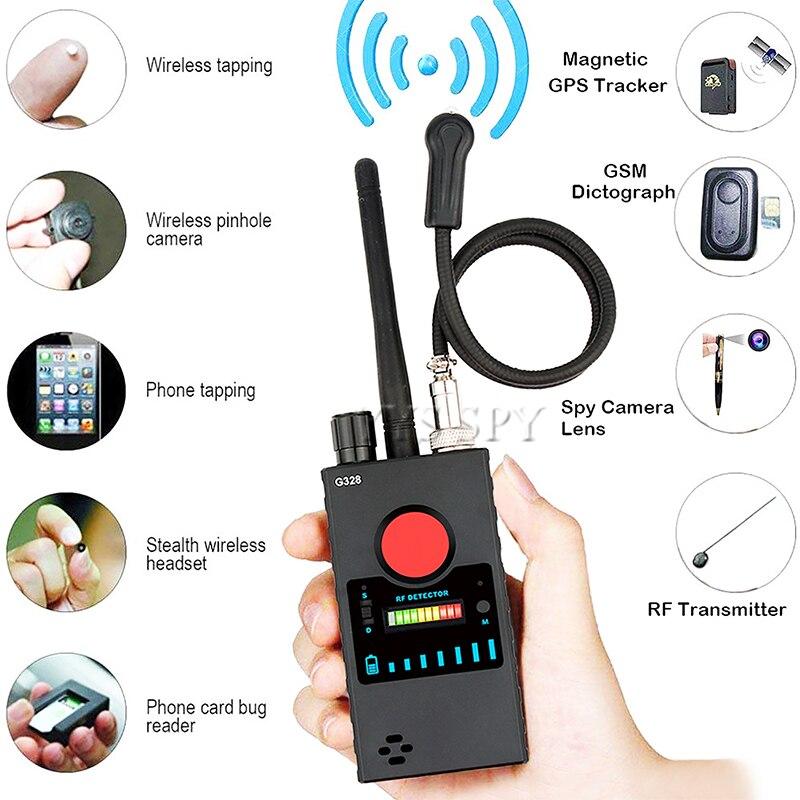 Профессиональный мини-шпион G328, скрытая камера, детектор радиочастот, анти-Candid Cam, магнитный GPS локатор, Беспроводная аудио ошибка, GSM Finder