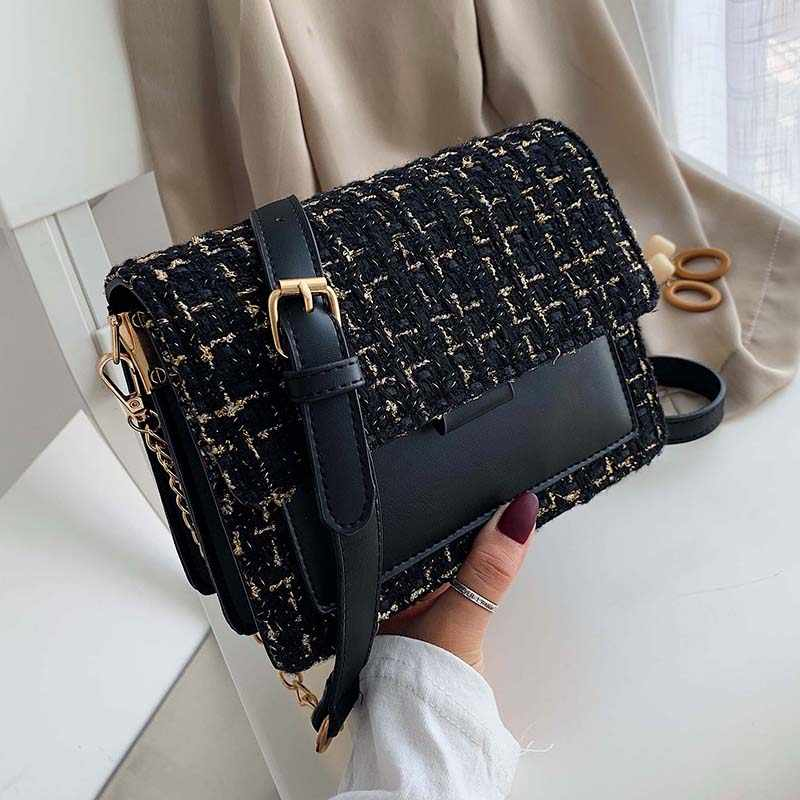 Cotton and Linen Crossbody Bags For Women 2019 Winter Shoulder Messenger Bag Female Mini Chain Handbags and Purses