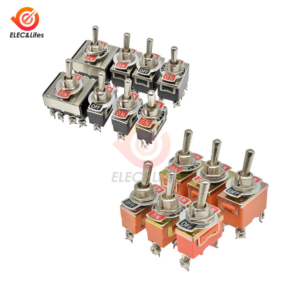 Мини автоматический переключатель AC 250V 15A 16A 2/3/4/6/12 Pin ON-OFF ON-ON 2/3 позиционный металлический переключатель или Пылезащитный колпак