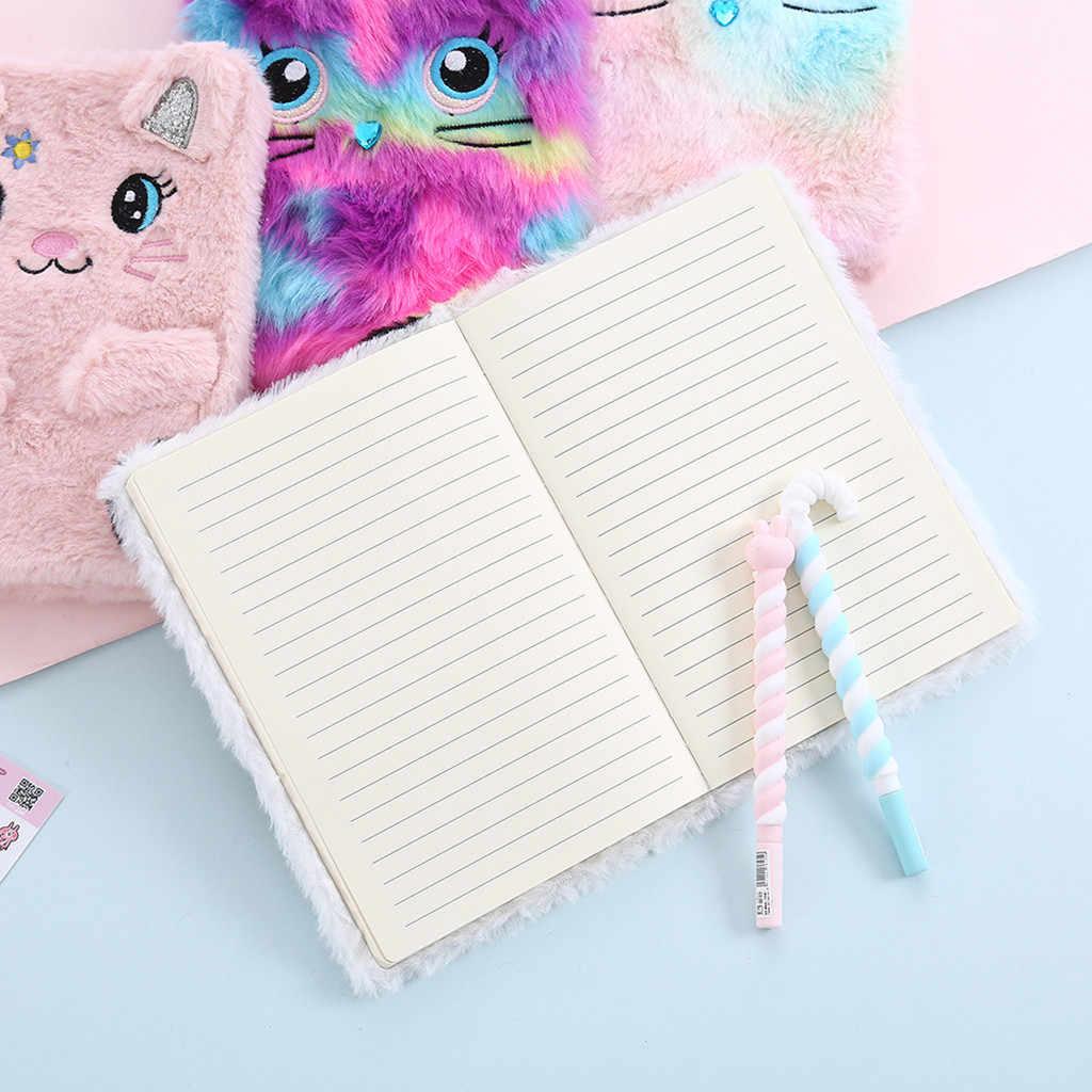 Papel bonito do bloco de notas do caderno do livro do diário dos desenhos animados do luxuoso alta qualidade