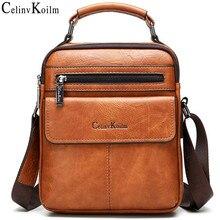 Celinv Koilm bolsos de hombro tipo bandolera para hombre, bolso de mano de cuero dividido de gran tamaño, bolso bandolera de trabajo de alta calidad