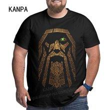 Nova chegada viking homens de grandes dimensões t camisas de algodão dos homens superior treino camisetas preto verão roupas moletom para pais plus size 6xl