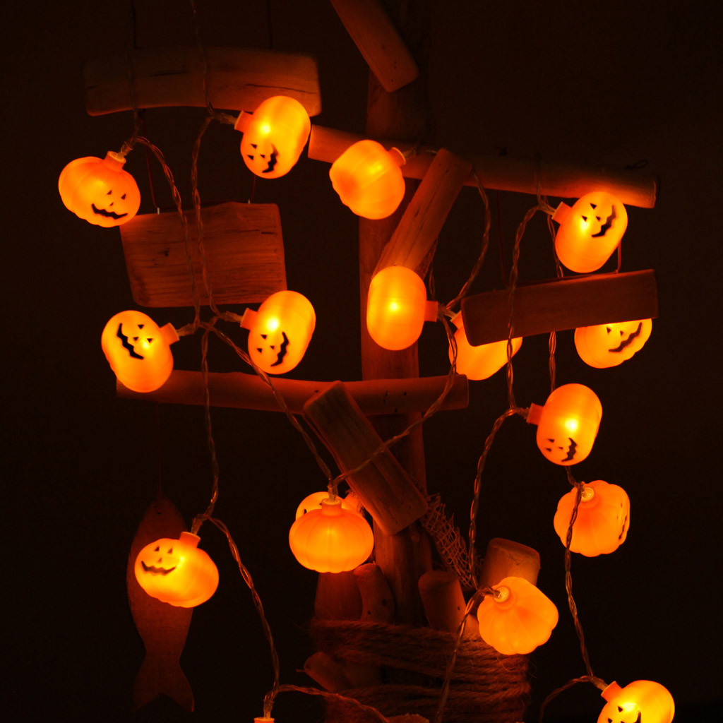 Fantastic Pumpkin LED String Lights Halloween Decoration Accessories Lamp Horror Halloween Ornaments Led String Lights Kerst