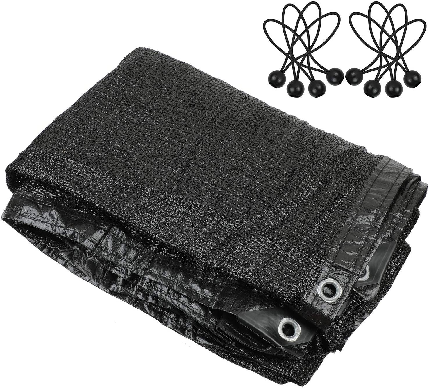Tela de sombra 80%, tela de sombra, tela de sombra con ojales para cubierta de pérgola, dosel negro