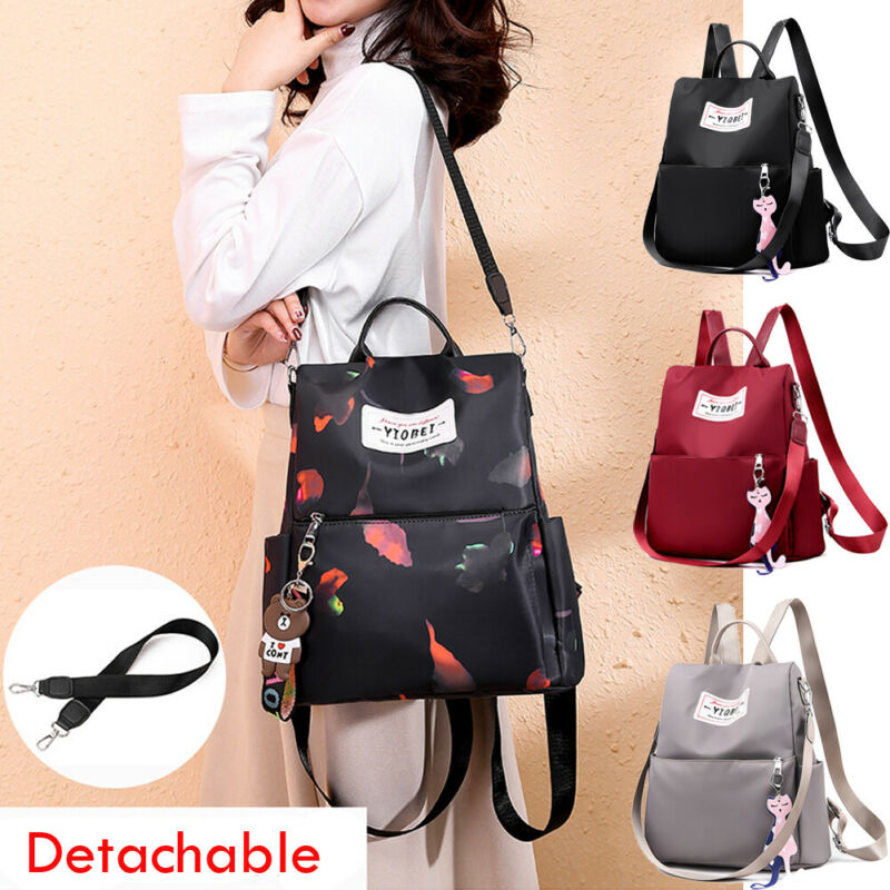 2019 New Women's Anti-theft Backpack Simple Fashion Solid Color Bag Oxford Shoulder Bag Travel Waterproof Satchel Mochila Mujer